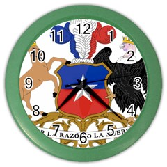 Coat Of Arms Of Chile  Color Wall Clocks