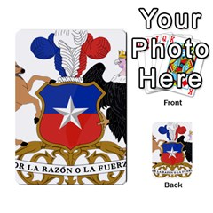 Coat Of Arms Of Chile  Multi Purpose Cards (rectangle)