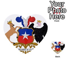 Coat Of Arms Of Chile  Multi Purpose Cards (heart)
