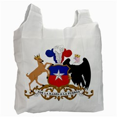 Coat Of Arms Of Chile  Recycle Bag (two Side)