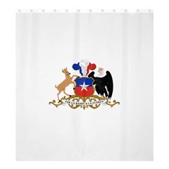Coat Of Arms Of Chile  Shower Curtain 66  X 72  (large)