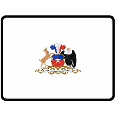 Coat Of Arms Of Chile  Fleece Blanket (Large)