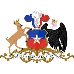 Coat Of Arms Of Chile  Birthday Cake 3D Greeting Card (7x5)