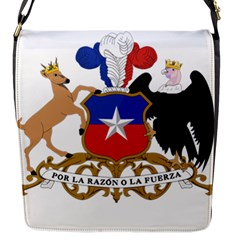 Coat Of Arms Of Chile  Flap Messenger Bag (S)