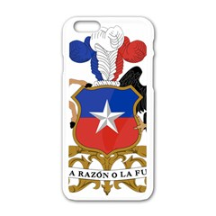 Coat Of Arms Of Chile  Apple iPhone 6/6S White Enamel Case
