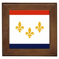 Flag Of New Orleans  Framed Tiles