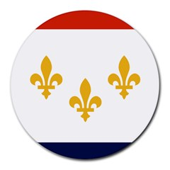 Flag Of New Orleans  Round Mousepads