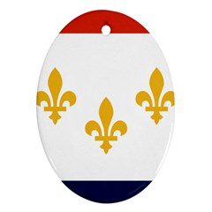 Flag Of New Orleans  Ornament (oval)