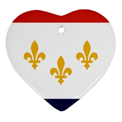 Flag Of New Orleans  Ornament (heart)