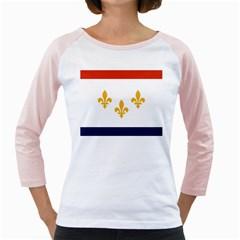 Flag Of New Orleans  Girly Raglans