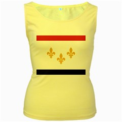 Flag Of New Orleans  Women s Yellow Tank Top