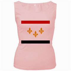 Flag Of New Orleans  Women s Pink Tank Top