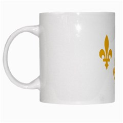 Flag Of New Orleans  White Mugs