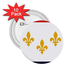 Flag Of New Orleans  2 25  Buttons (10 Pack)
