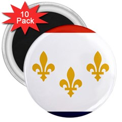 Flag Of New Orleans  3  Magnets (10 Pack)