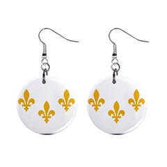 Flag Of New Orleans  Mini Button Earrings