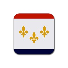 Flag Of New Orleans  Rubber Coaster (square)