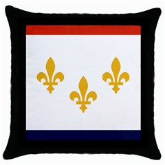 Flag Of New Orleans  Throw Pillow Case (black)