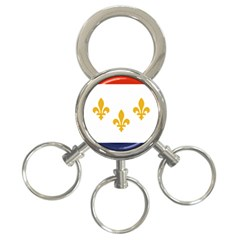 Flag Of New Orleans  3 Ring Key Chains