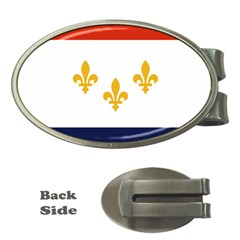 Flag Of New Orleans  Money Clips (oval)