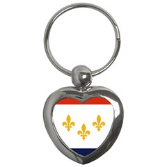 Flag Of New Orleans  Key Chains (heart)