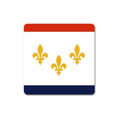 Flag Of New Orleans  Square Magnet