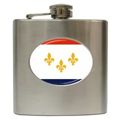 Flag Of New Orleans  Hip Flask (6 Oz)
