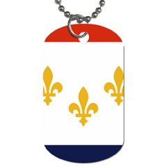 Flag Of New Orleans  Dog Tag (two Sides)