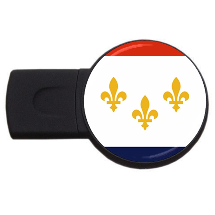 Flag Of New Orleans  USB Flash Drive Round (2 GB)