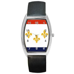 Flag Of New Orleans  Barrel Style Metal Watch