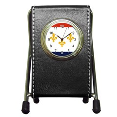 Flag Of New Orleans  Pen Holder Desk Clocks