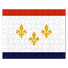 Flag Of New Orleans  Rectangular Jigsaw Puzzl