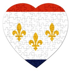 Flag Of New Orleans  Jigsaw Puzzle (heart)