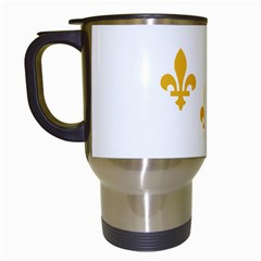 Flag Of New Orleans  Travel Mugs (white)