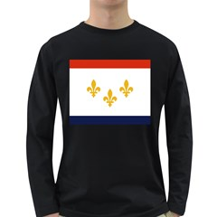 Flag Of New Orleans  Long Sleeve Dark T Shirts