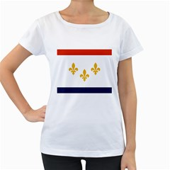 Flag Of New Orleans  Women s Loose Fit T Shirt (white)