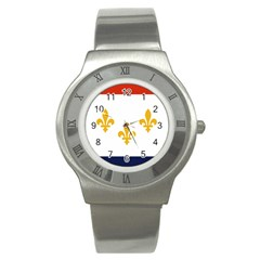 Flag Of New Orleans  Stainless Steel Watch
