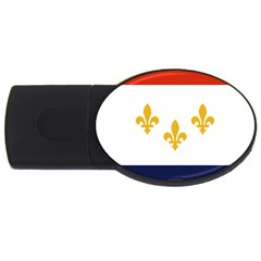 Flag Of New Orleans  Usb Flash Drive Oval (4 Gb)