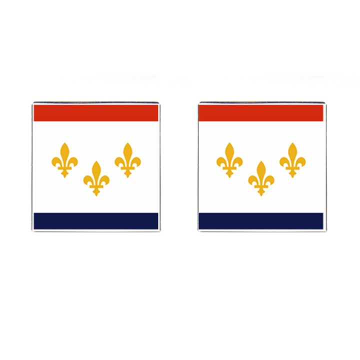 Flag Of New Orleans  Cufflinks (Square)