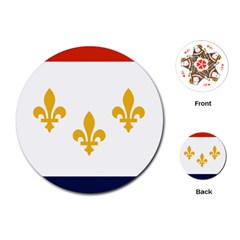 Flag Of New Orleans  Playing Cards (round)
