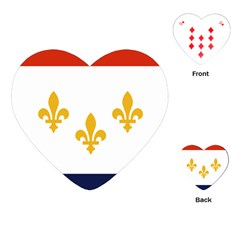 Flag Of New Orleans  Playing Cards (heart)