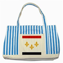Flag Of New Orleans  Striped Blue Tote Bag