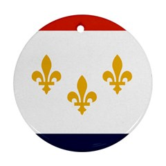 Flag Of New Orleans  Round Ornament (two Sides)