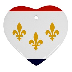 Flag Of New Orleans  Heart Ornament (2 Sides)