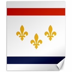 Flag Of New Orleans  Canvas 8  X 10