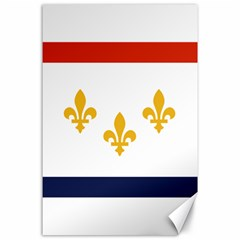 Flag Of New Orleans  Canvas 24  X 36