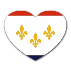 Flag Of New Orleans  Heart Mousepads