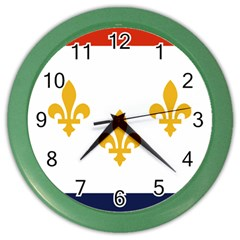 Flag Of New Orleans  Color Wall Clocks