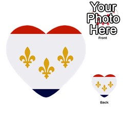 Flag Of New Orleans  Multi-purpose Cards (Heart)