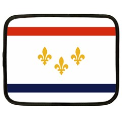 Flag Of New Orleans  Netbook Case (large)